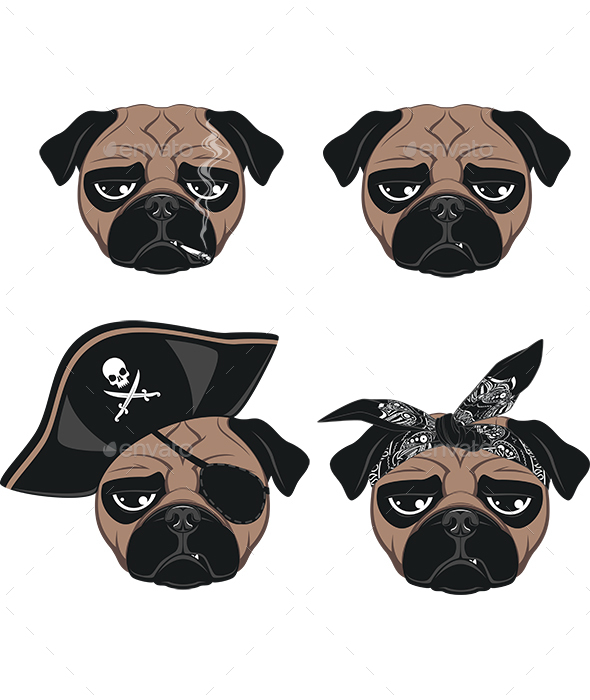 Pugs - Animals Characters