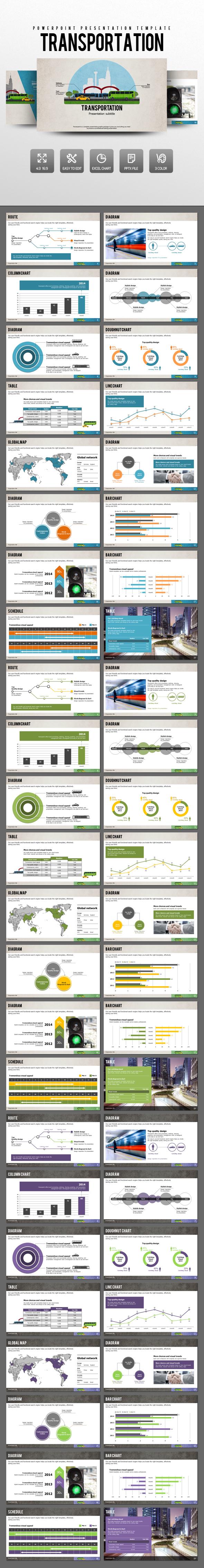 Transportation - PowerPoint Templates Presentation Templates