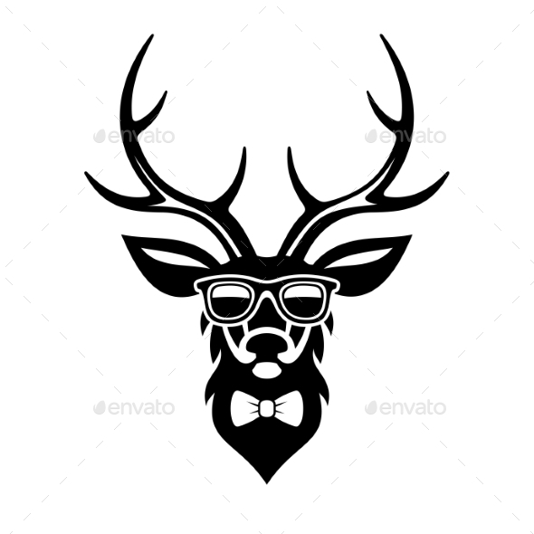Deer Dressed Up In Hipster Style - Animals Characters