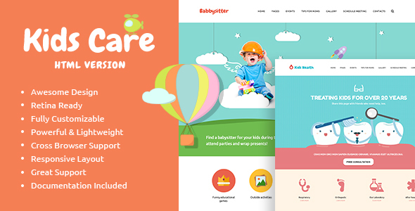 Awesome KidsCare - Multi-Purpose Children Site Template