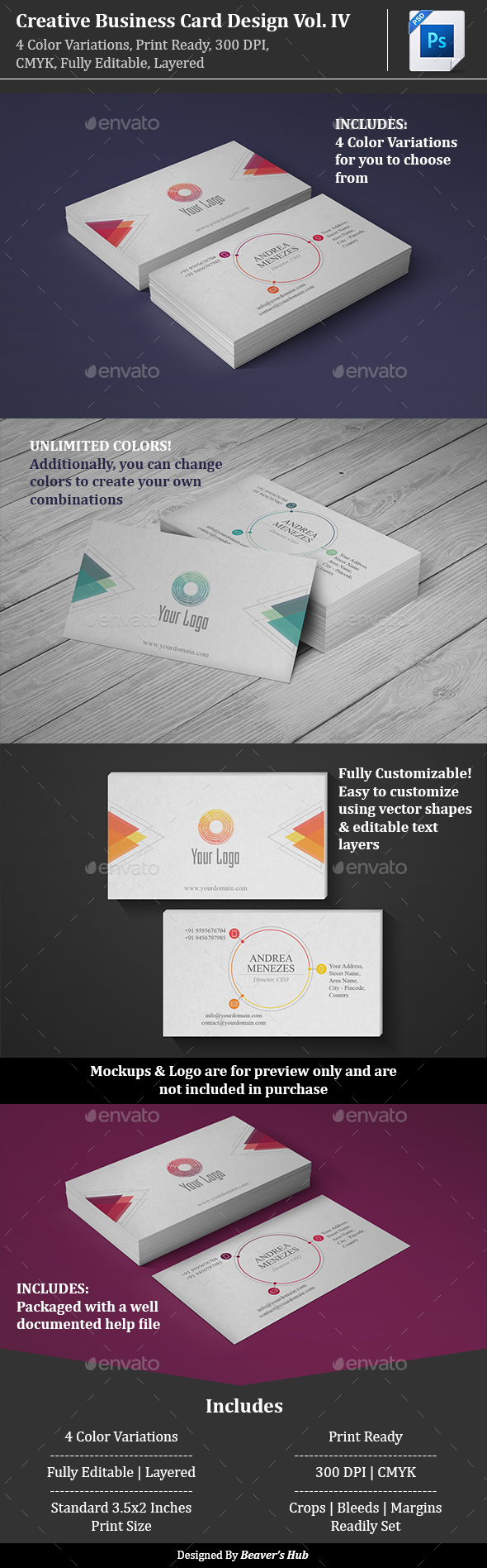 Creative Business Card Design Vol. 4 - Creative Business Cards