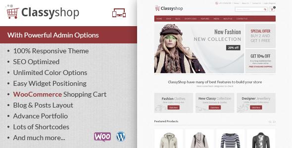 ClassyShop - WooCommerce Responsive Theme - WooCommerce eCommerce