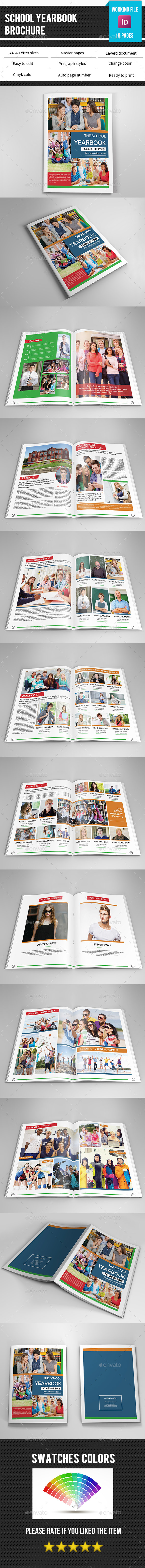 School Yearbook Template-V337 - Catalogs Brochures
