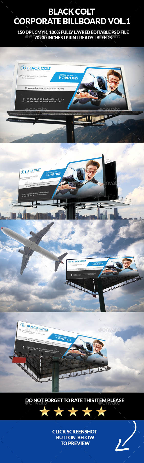 Corporate Business Billboard Banner Vol.1 - Signage Print Templates