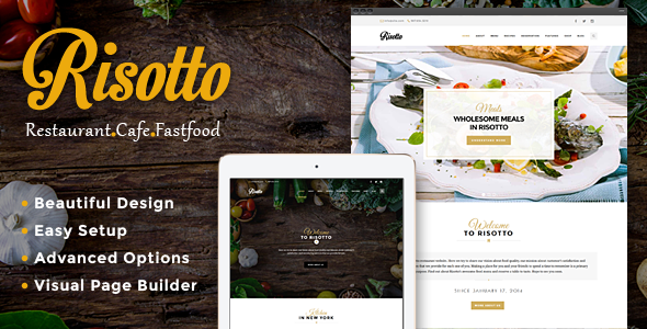 Risotto - WordPress Restaurant & Cafe Theme - Restaurants & Cafes Entertainment