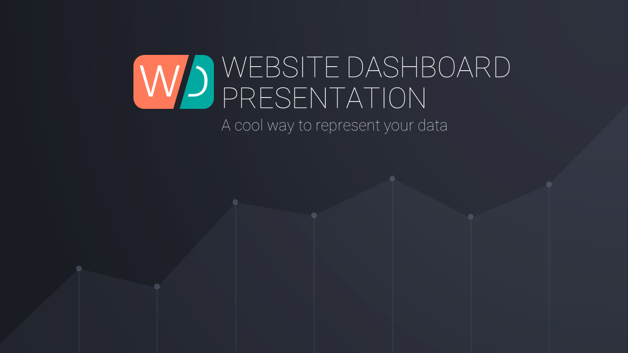 Website Dashboard Presentation Template (From Graphic River)