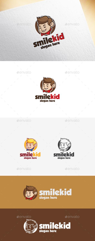 Smile Kid Logo Template - Humans Logo Templates