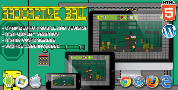 Radioactive Ball - HTML5 Arcade Game - CodeCanyon Item for Sale