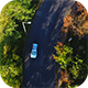 Flying Over a Suburb Road - VideoHive Item for Sale