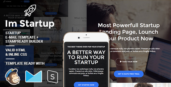 Im Startup – Responsive Email + StampReady Builder