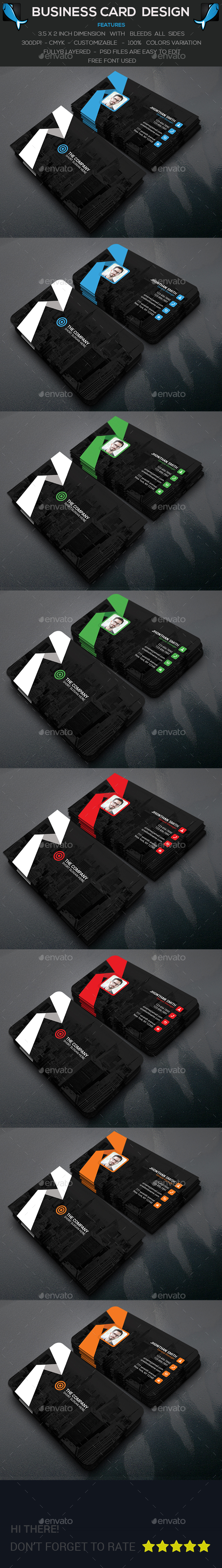Creative Personal Business Card - 10 PSD File - Corporate Business Cards