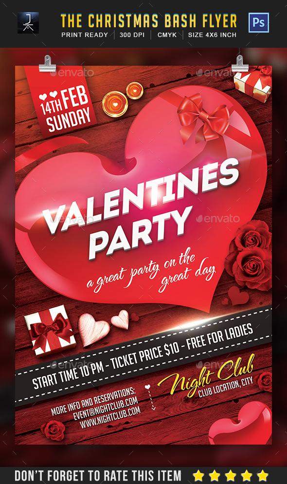valentine flyer - Print Templates