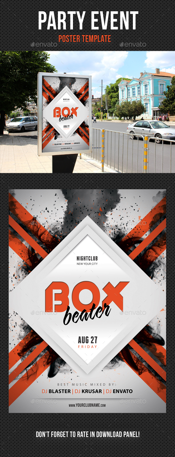 Party Event Music Poster 03 - Signage Print Templates