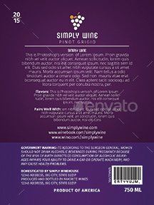 Simple Wine Label Templates 1 By Creativb Graphicriver