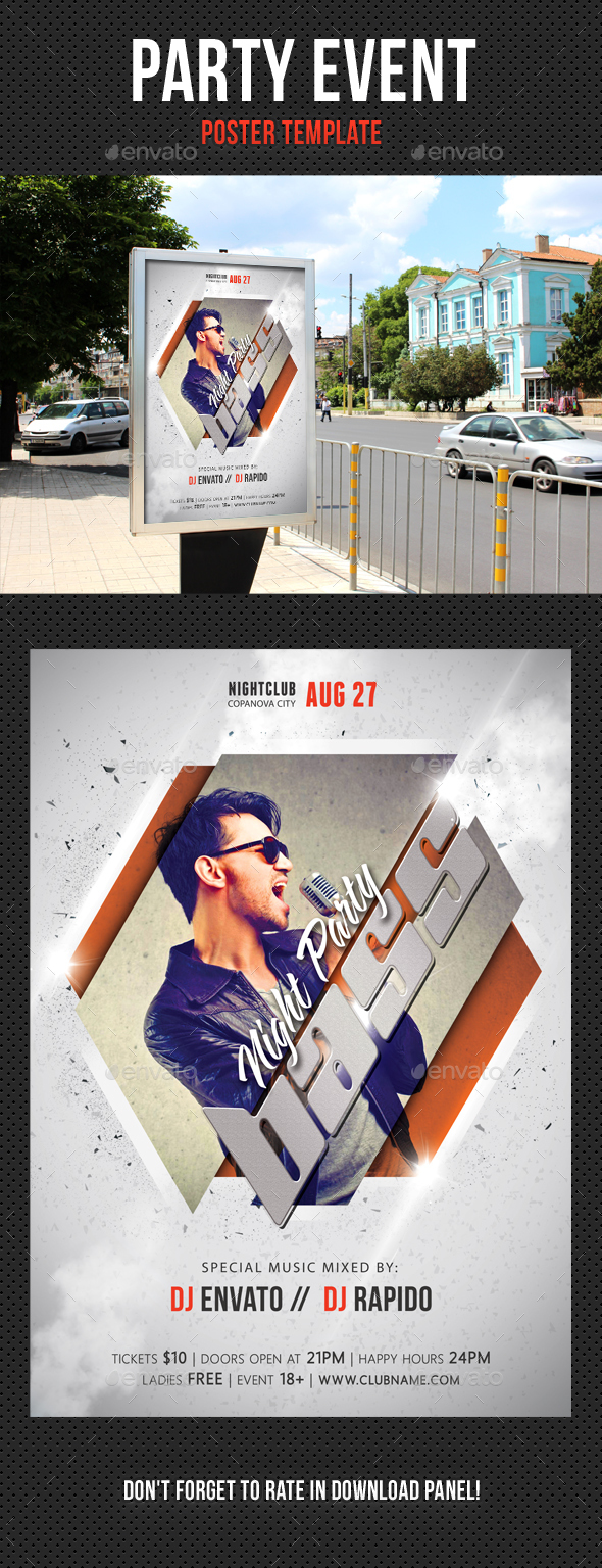 Party Event Music Poster 04 - Signage Print Templates
