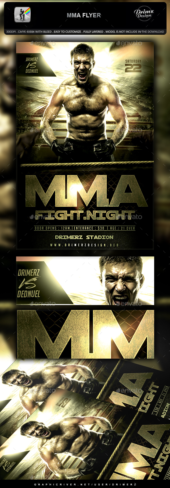 MMA Flyer - Sports Events