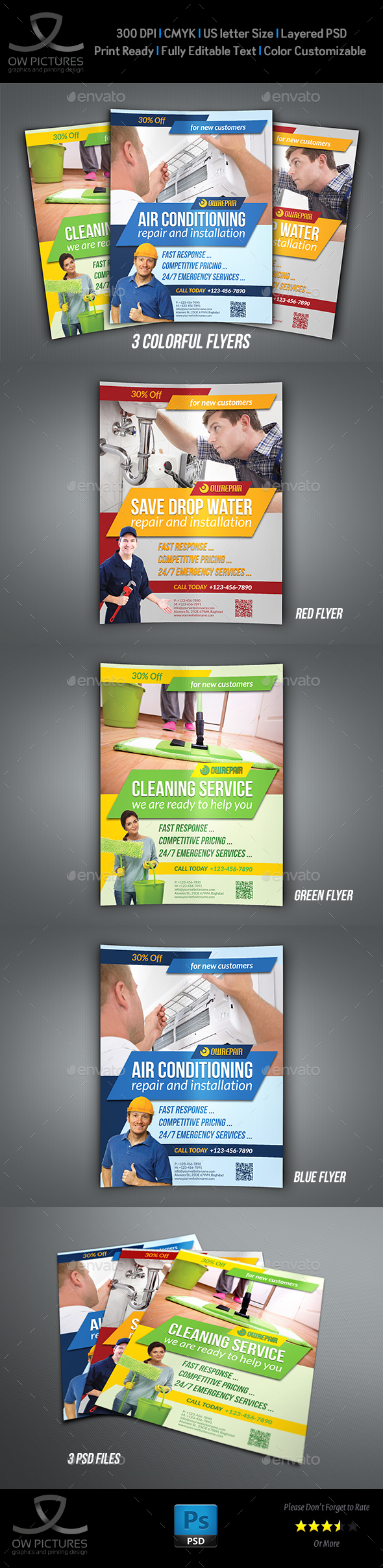 Services Flyer Template - Commerce Flyers