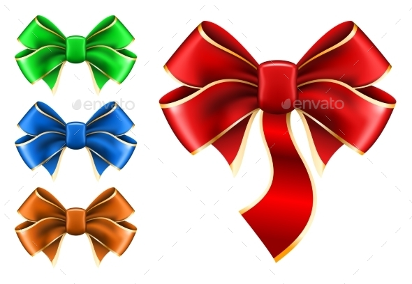 Set Bow in Different Colors - Christmas Seasons/Holidays