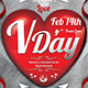 Valentines Day Flyer + Menu Bundle V8 - GraphicRiver Item for Sale