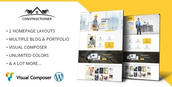 Constructioner - Modern Construction WordPress Template