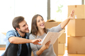 Couple planning decoration when moving home - PhotoDune Item for Sale