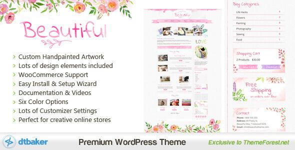 Beautiful Watercolor - Hand Painted Creative WordPress