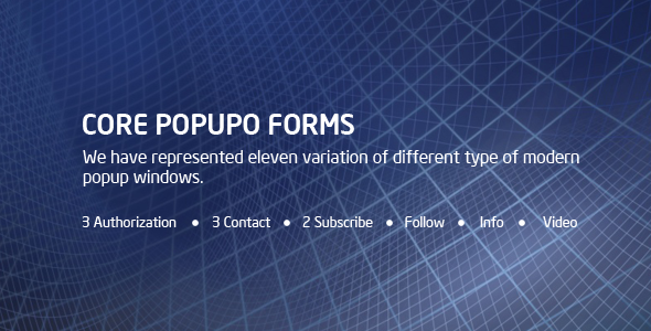 CORE POPUPO Forms - CodeCanyon Item for Sale
