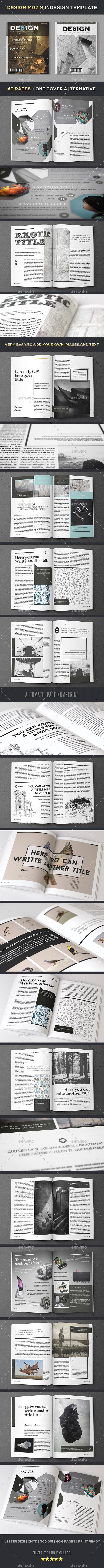 Design Magazine 8 Indesign Template - Magazines Print Templates