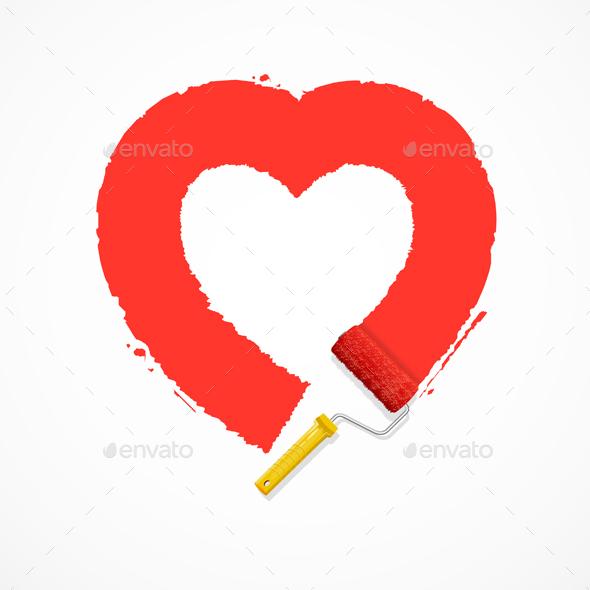 Red Valentine Heart - Valentines Seasons/Holidays