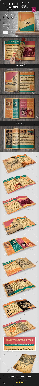The Retro Magazine Indesign Template - Magazines Print Templates