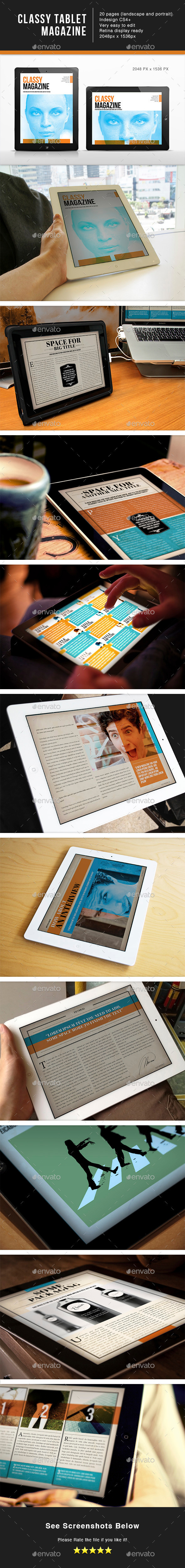 Classy Magazine for Tablet Template - Digital Magazines ePublishing