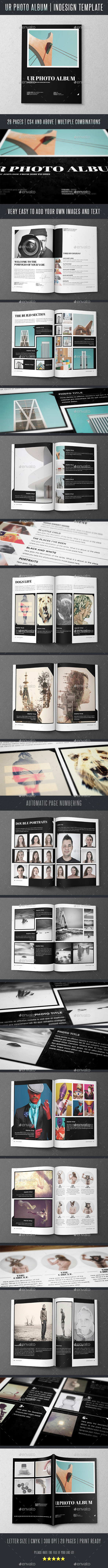 Ur Photo Album Indesign Template - Photo Albums Print Templates