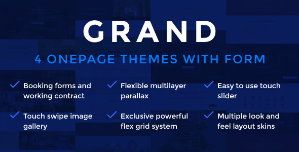 GRAND - 4 in 1 Onepage HTML Themes - Landing Pages Marketing