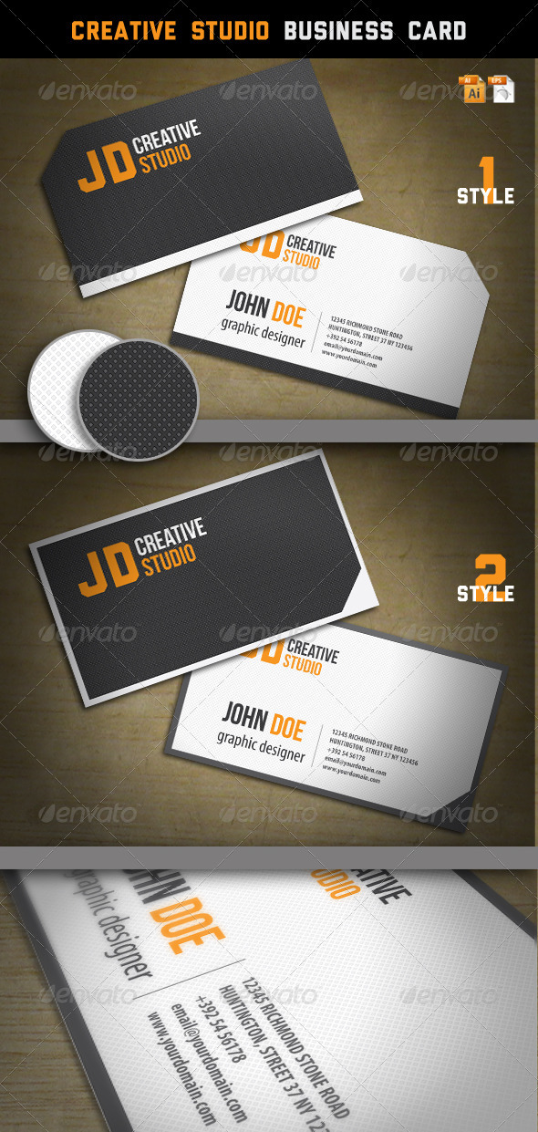 Creative Studio Business Card - Corporate Business Cards