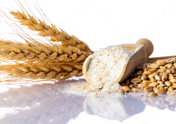 Flour, Wheat and Cereal Grain - Stock Photo - Images