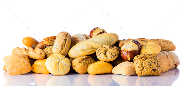 Bread and Bun Pile - Stock Photo - Images