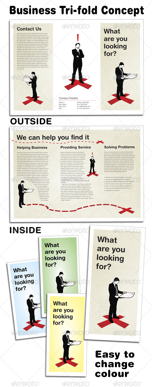 Business Concept Tri-fold - Corporate Brochures