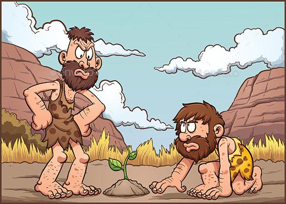 Cartoon Cavemen - Characters Vectors