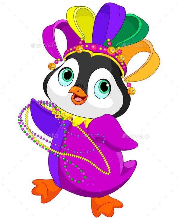 Mardi Gras Penguin  - Animals Characters