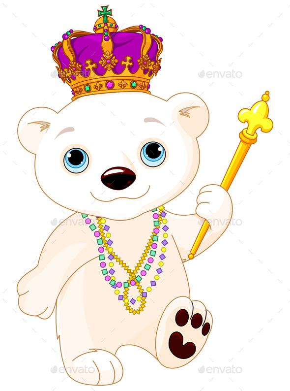 Mardi Gras Polar Bear - Animals Characters