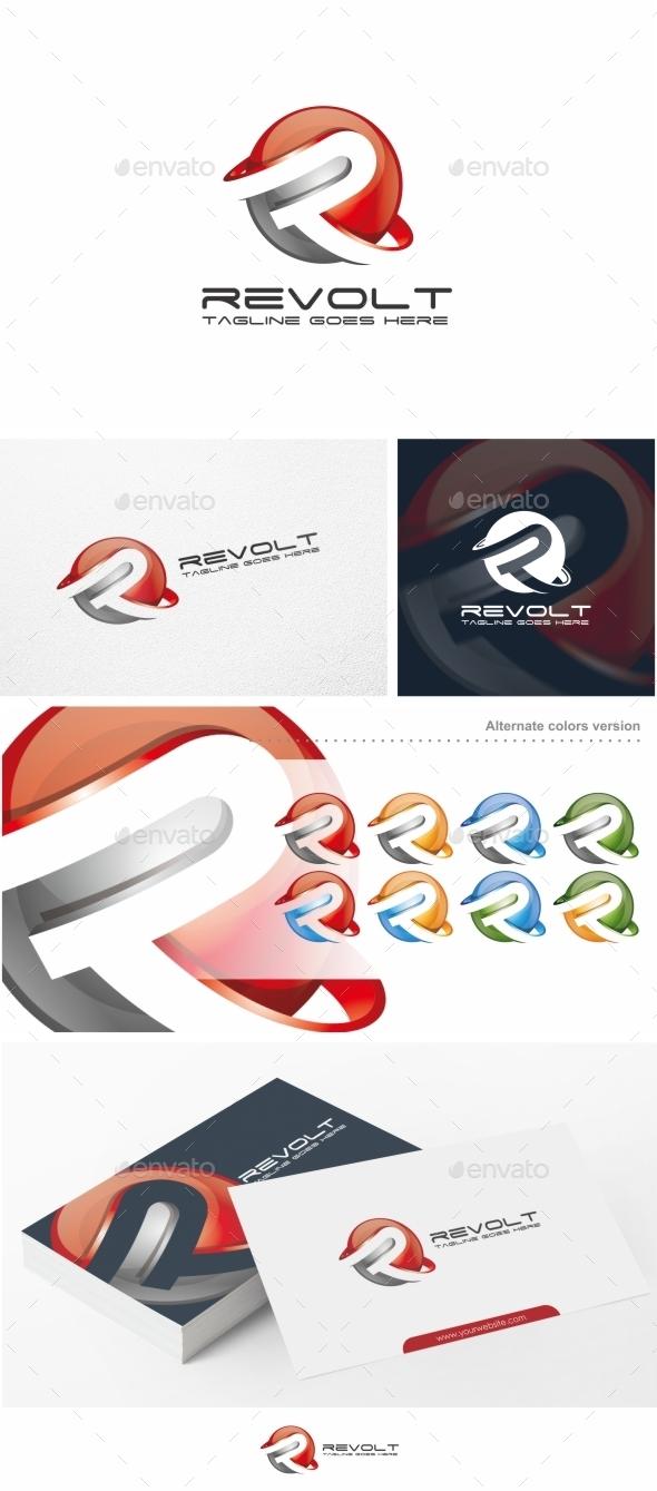 Revolt / Letter R - Logo Template - Letters Logo Templates