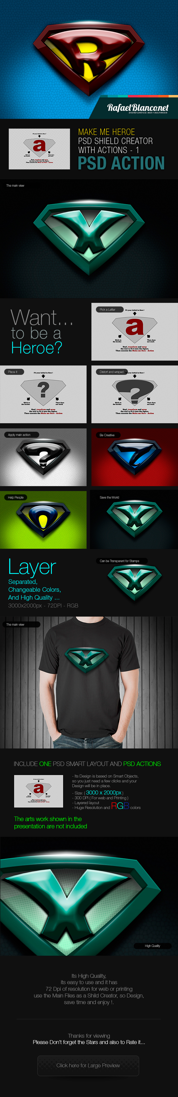 Superhero Shield Creator With Actions - Text Effects Actions