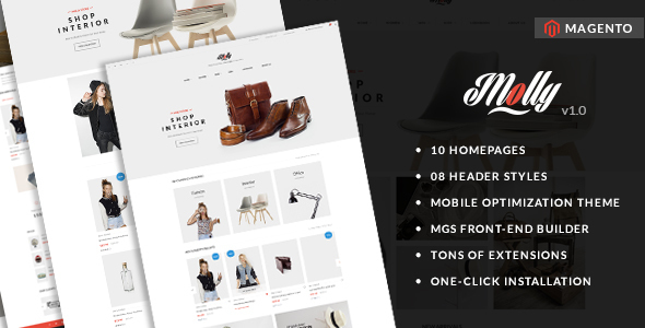 Molly – Elegant & Clean Multipurpose Magento Theme