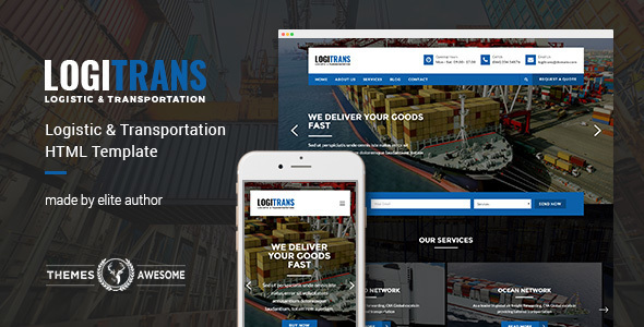 LogiTrans – Logistic and Transportation HTML Template