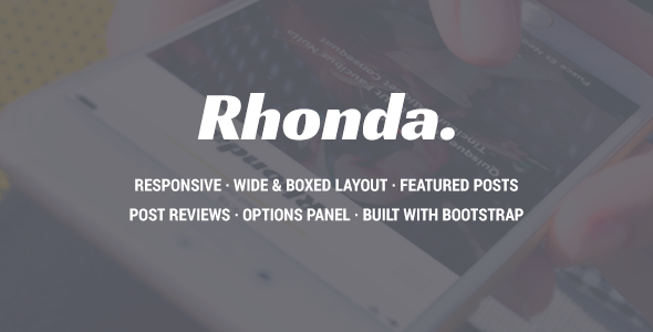 Rhonda – Responsive WordPress News Theme