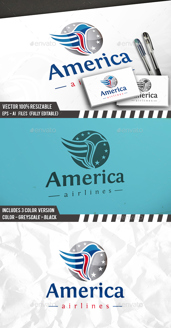 American Eagle Logo - Animals Logo Templates
