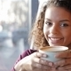 Portrait Of Beautiful Smiling Woman In a Cafe - VideoHive Item for Sale