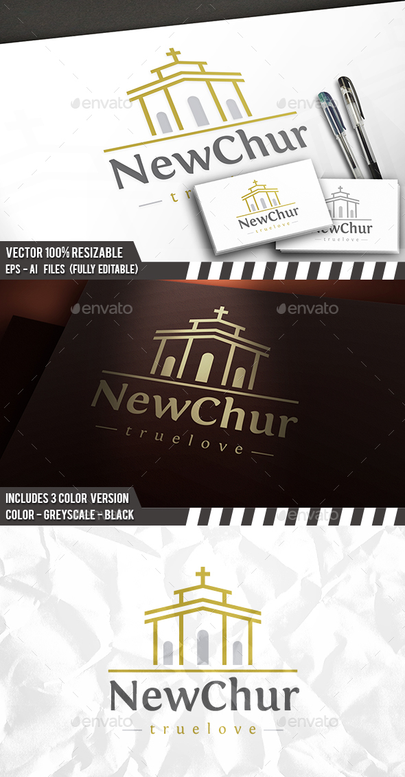 Church Build Logo - Buildings Logo Templates