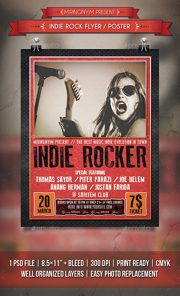 Indie Rock Flyer / Poster - Events Flyers