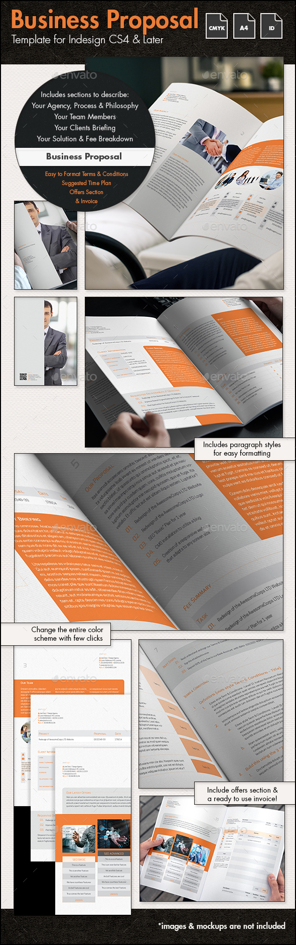 Business Proposal Template - A4 Portrait - Proposals & Invoices Stationery